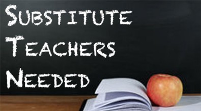 Text of Substitute Teachers Needed