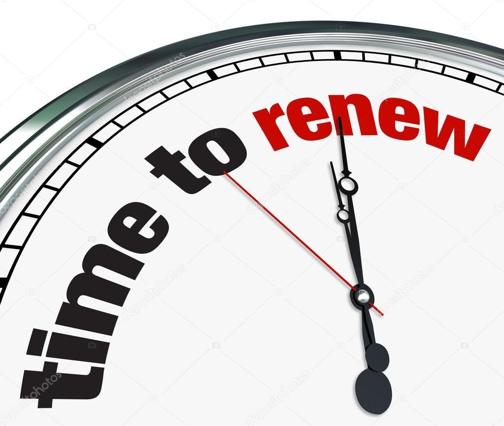 renewal time