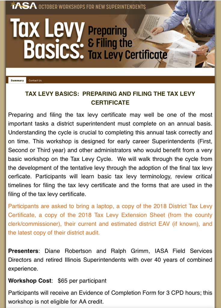 Tax Levy Basics Flyer