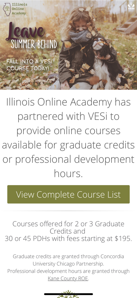 Online courses for professional development hours and graduate credit!