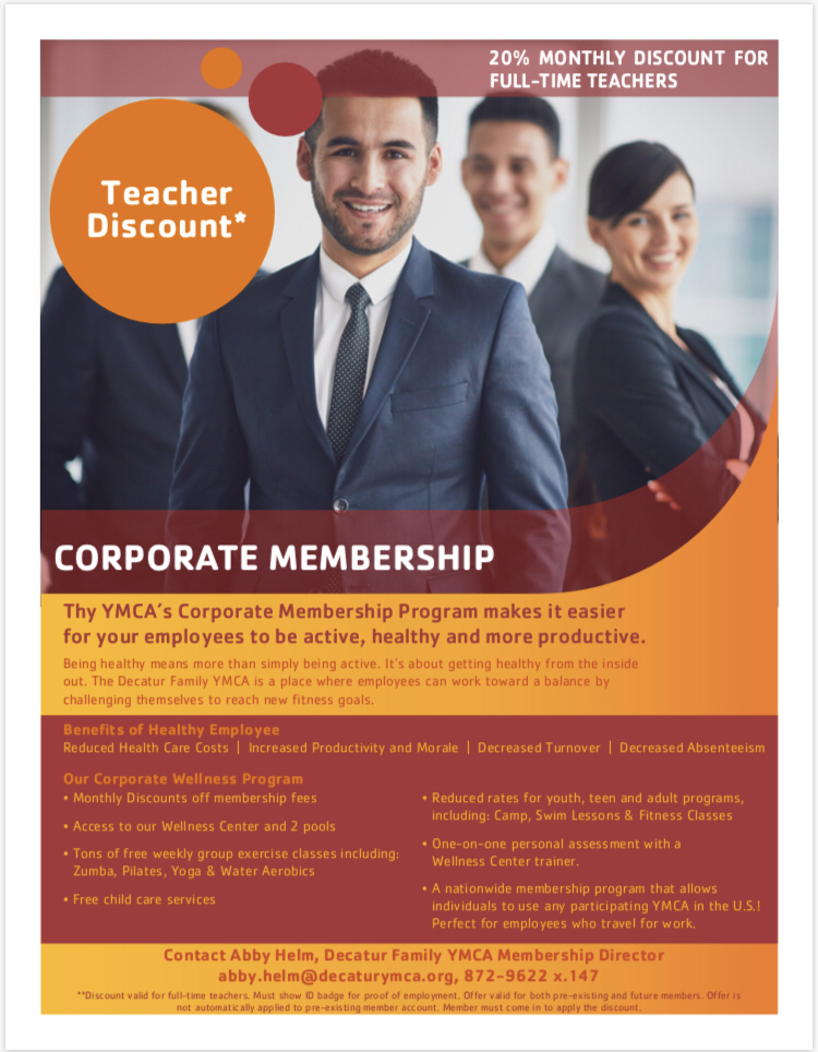 YMCA Corporate Membership Flyer
