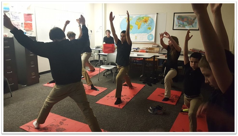 Milligan Students Practicing Yoga